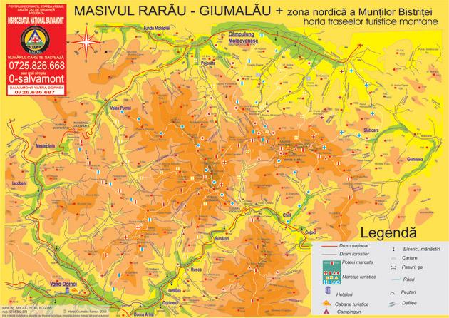 Masivul Rarău - Giumalău și zona nordică a Munților Bistriței